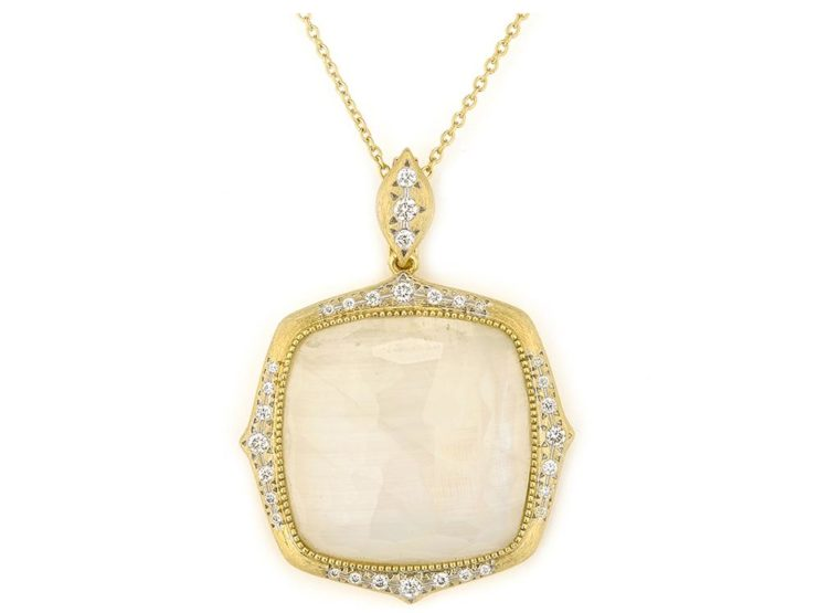 JudeFrances Moroccan Marrakesh Cushion Moonstone Pendant