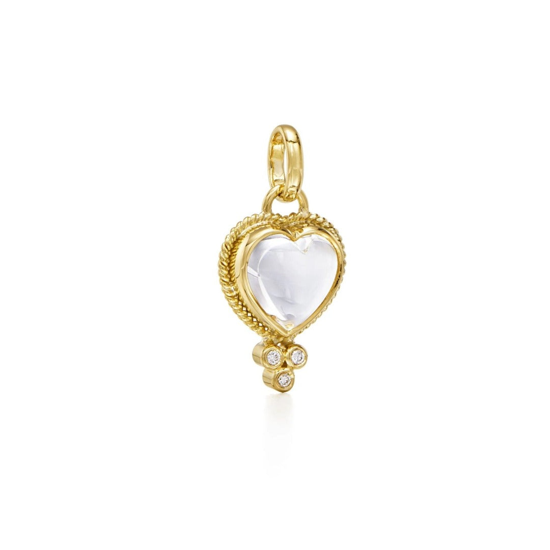 Temple St. Clair Small Rock Crystal Heart Pendant