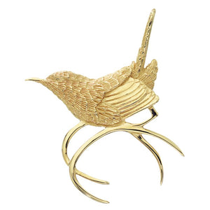 Grainger McKoy 14K Yellow Gold Carolina Wren Pin/Pendant
