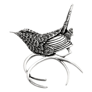 Grainger McKoy Sterling Silver Carolina Wren Pin/Pendant
