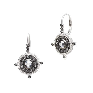 Freida Rothman Nautical Button Leverback Earrings
