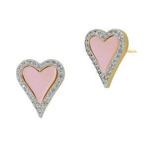Freida Rothman Pink From the Heart Stud Earrings