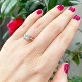 Estate 2.01ct Diamond Solitaire 14K Gold Engagement Ring
