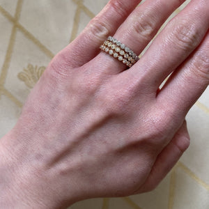 .50ct Diamond Bezel Milgrain 14K Yellow Gold Eternity Band