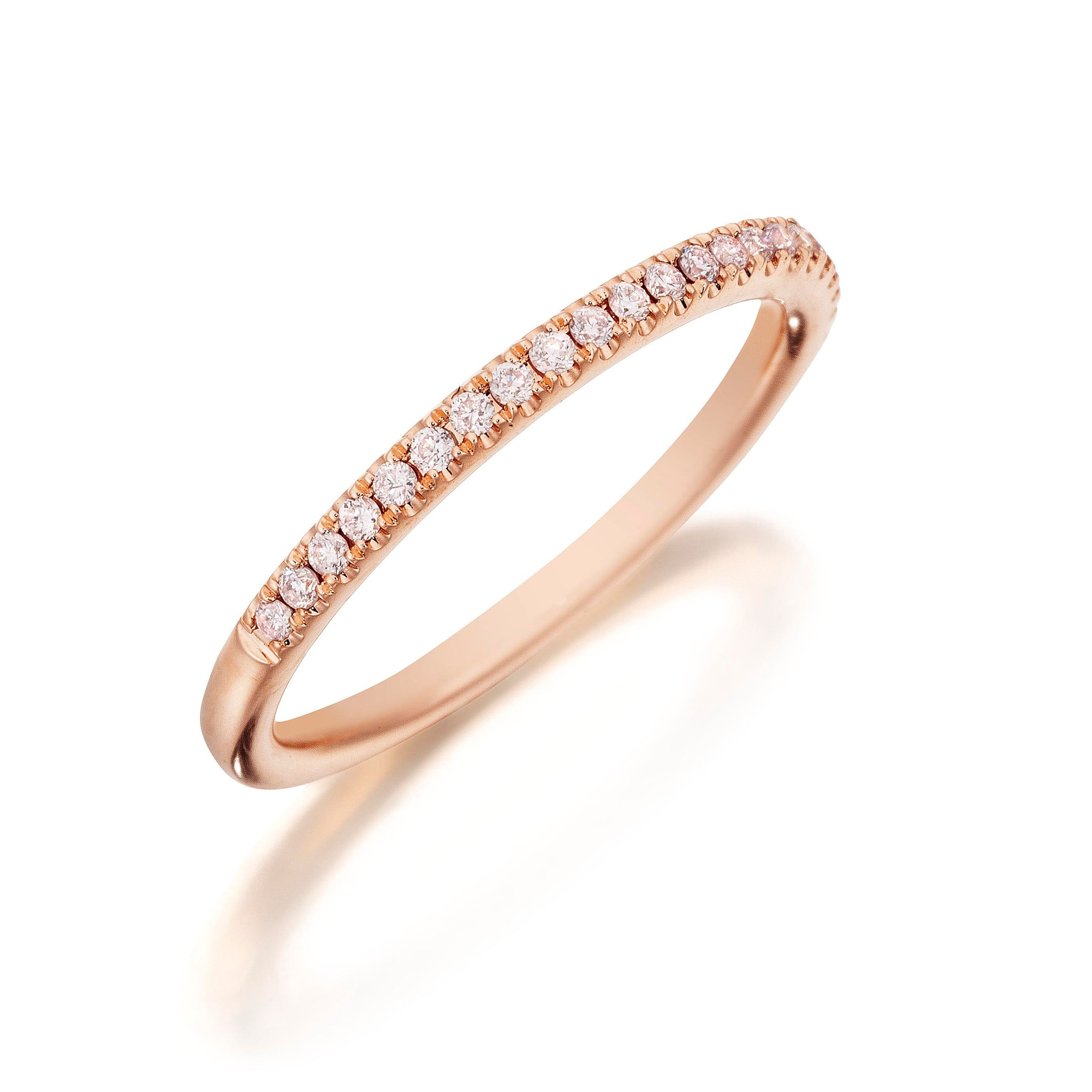 Henri Daussi .15ct Diamond Halfway 18K Rose Gold Band