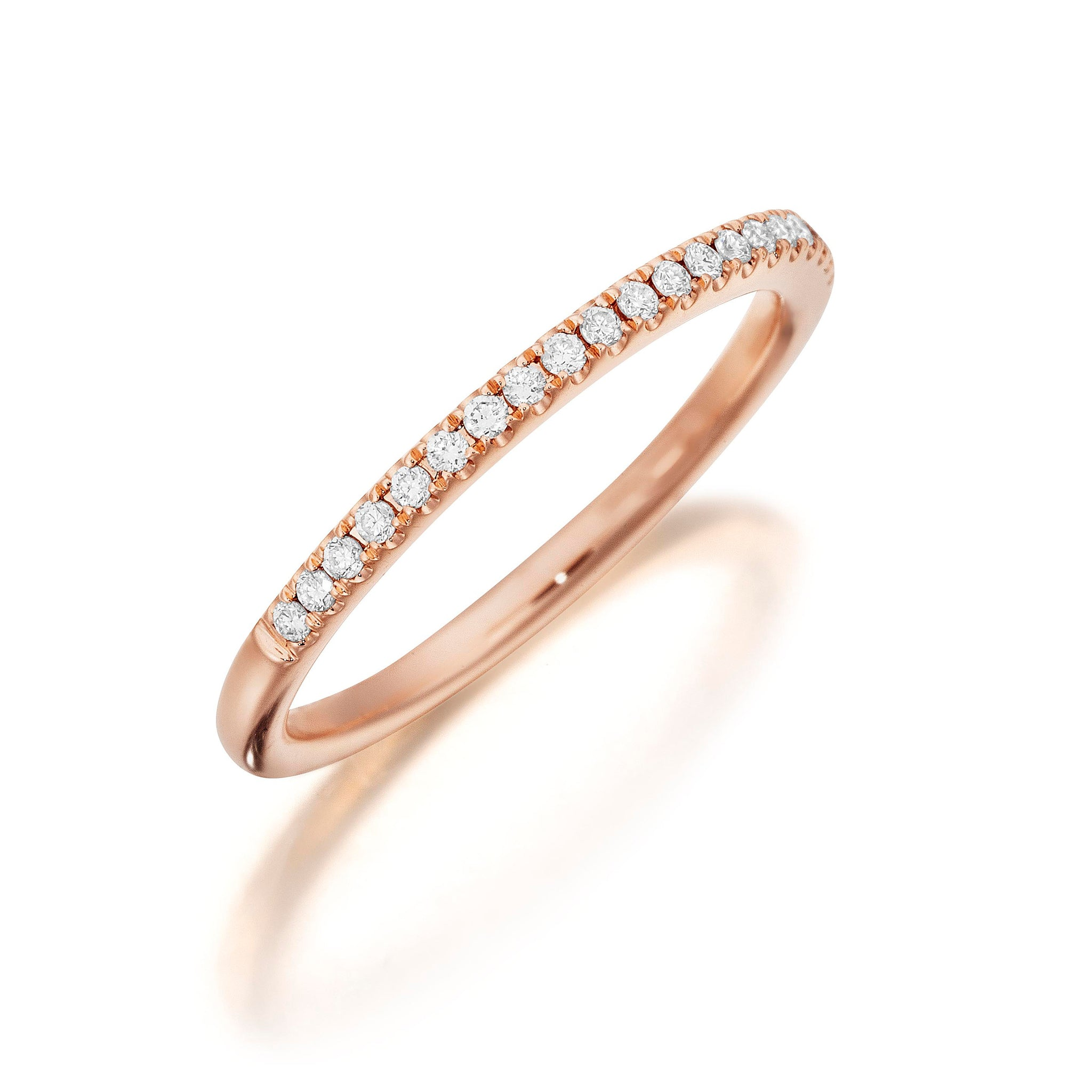 Henri Daussi .15ct Diamond Halfway 14K Rose Gold Band