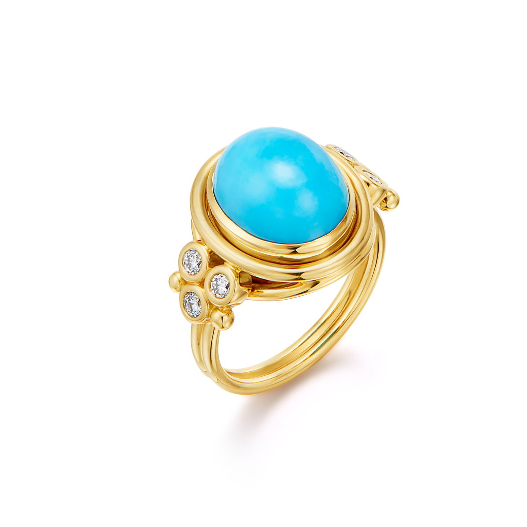 Temple St. Clair Turquoise Classic Temple Ring