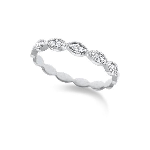 Diamond Marquise Stackable Band