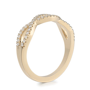 Henri Daussi Diamond Open Twist Halfway Band