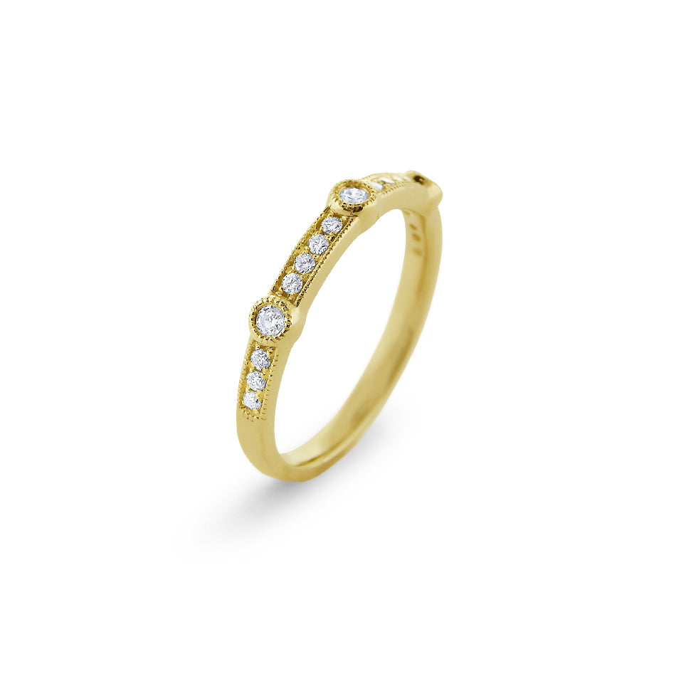 Diamond & 14K Gold Stackable Band