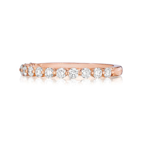 Henri Daussi .50ct Diamond Halfway 14K Rose Gold Band