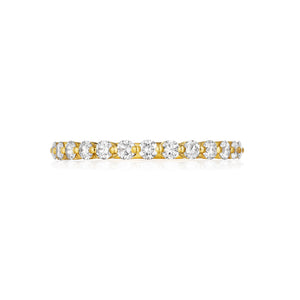 Henri Daussi .45ct Diamond Halfway 14K Yellow Gold Band