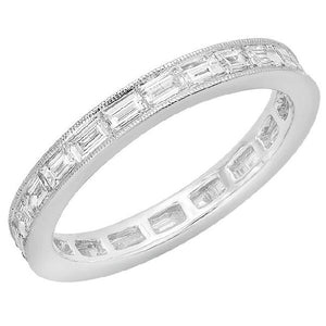 1.17ct Baguette Diamond 18K White Gold Eternity Band