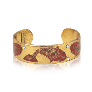 Goldfish Gold Leaf Skinny Cuff