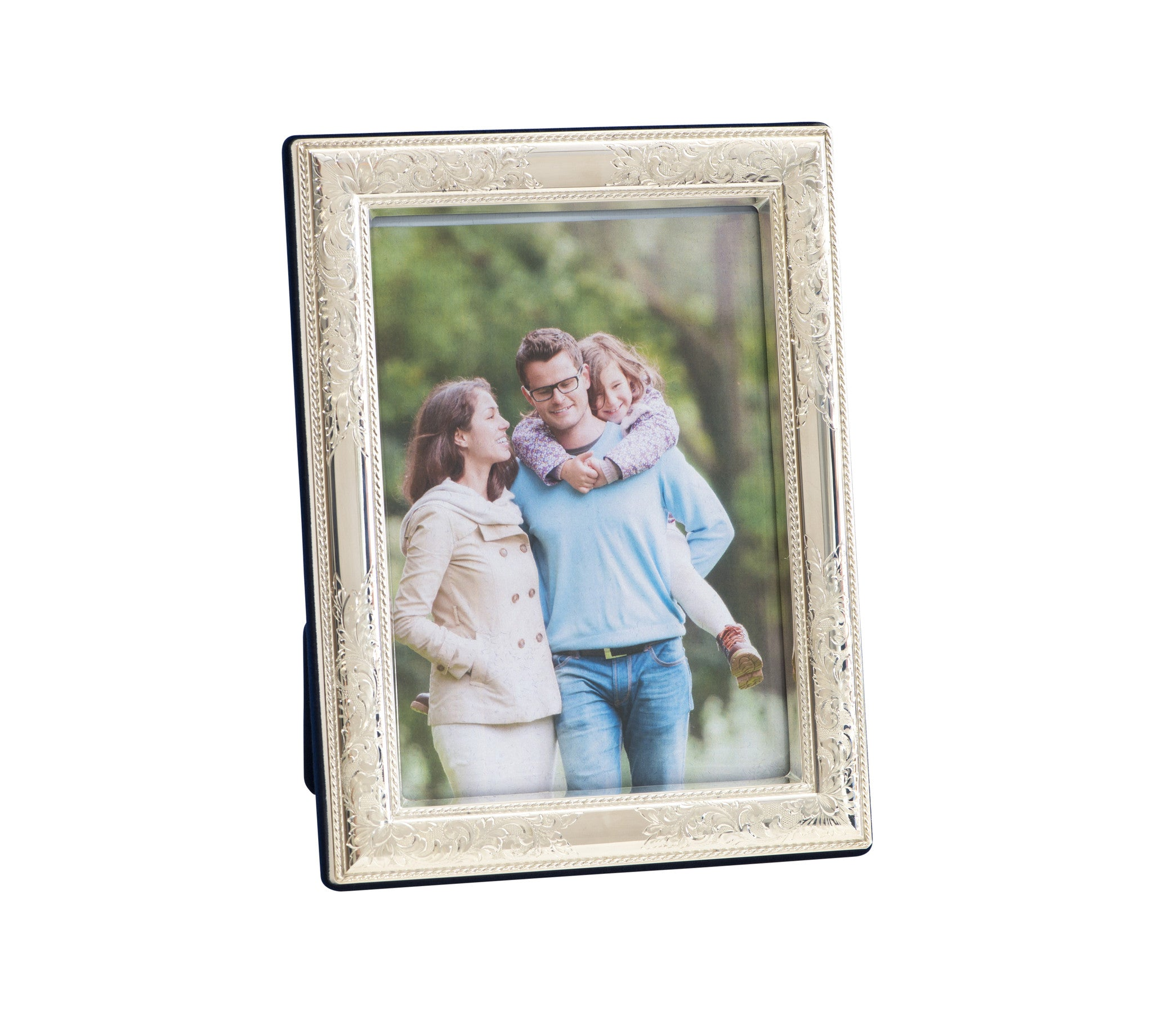 Nostalgia 5 x 7 Sterling Silver Picture Frame