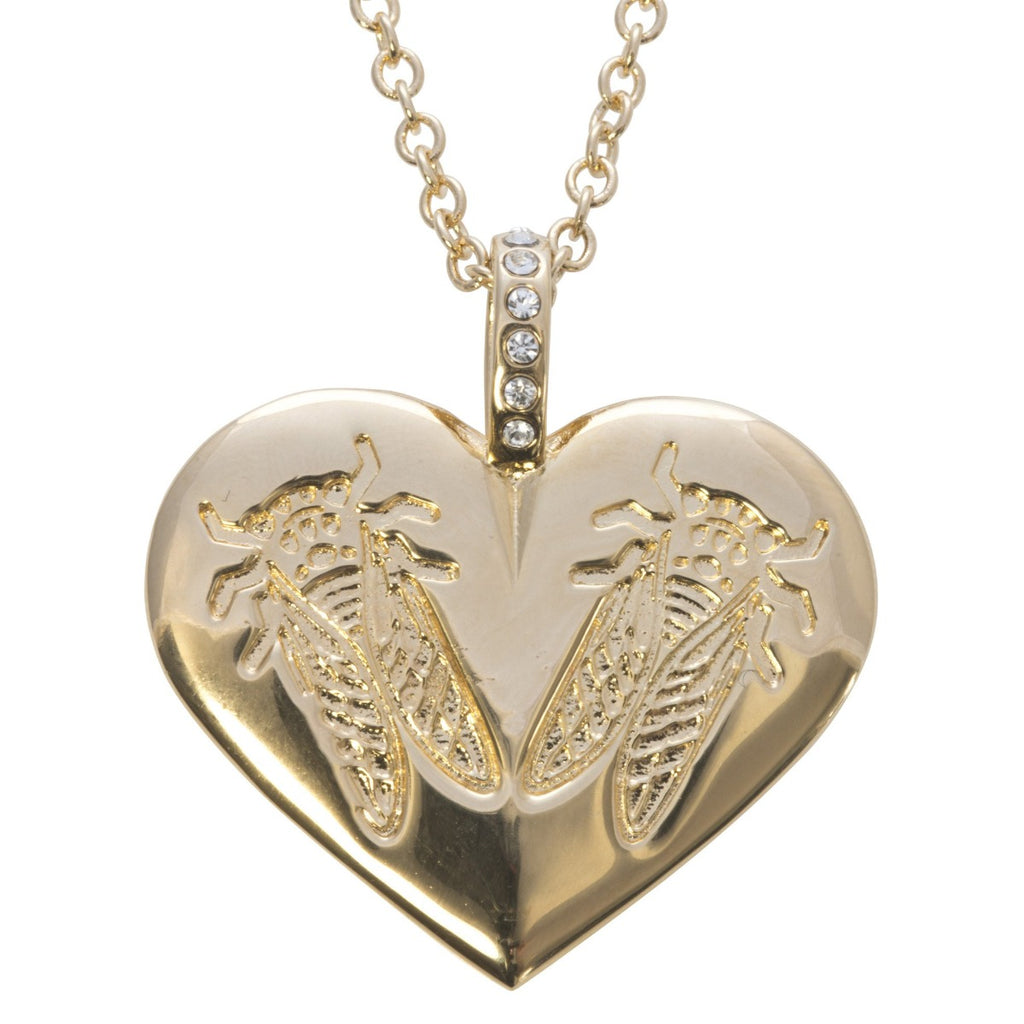 hand double fingerprint heart large necklace jewellery on charm