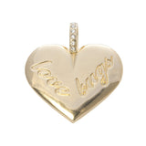 Goldbug Love Bug HEART Pendant Necklace