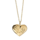 Goldbug Love Bug Heart Necklace