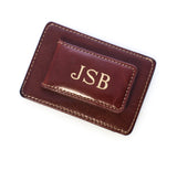 Brown Leather Money Clip & Card Holder
