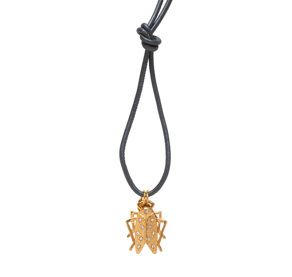 Goldbug Shining Star Leather Cord Necklace