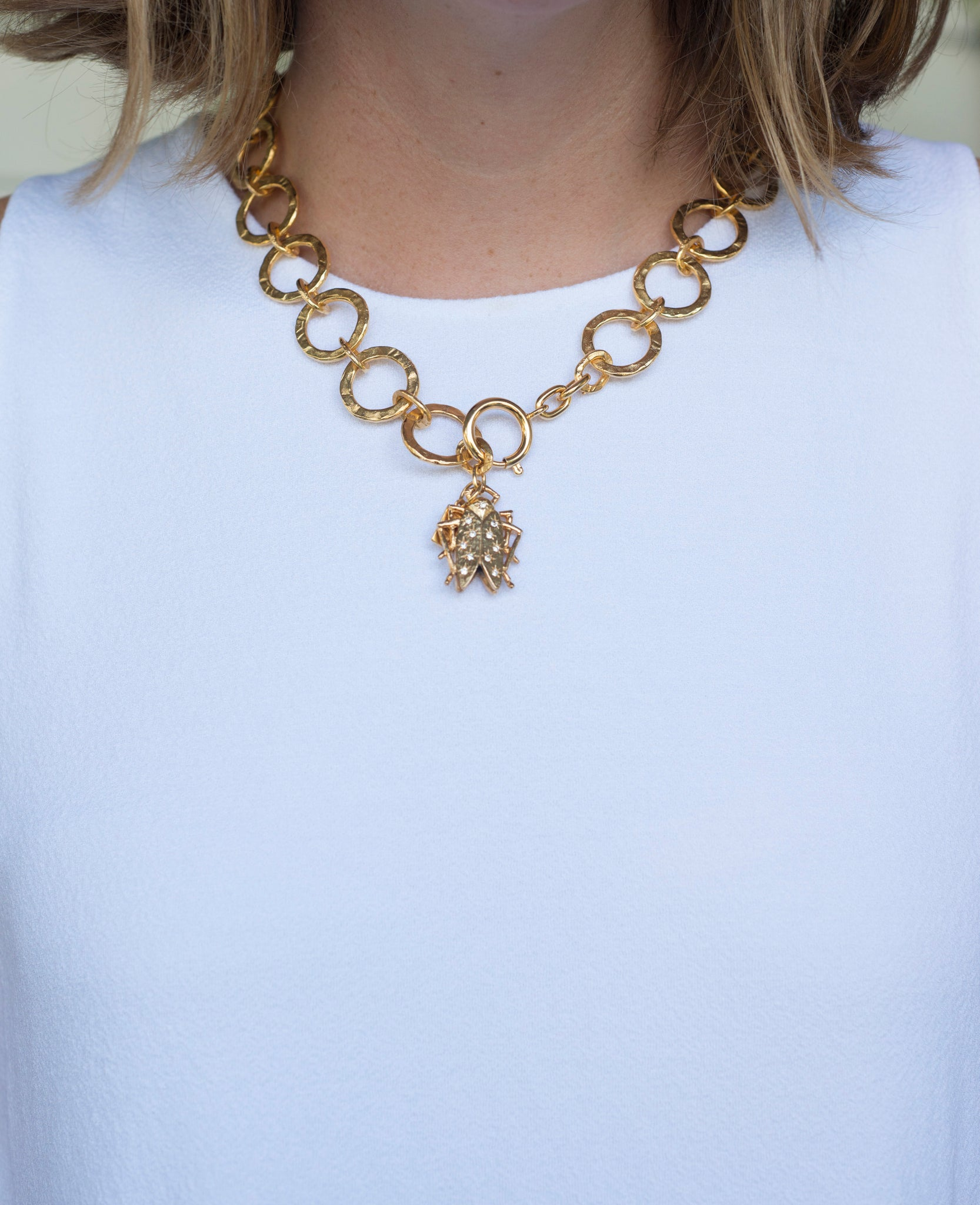 Goldbug Shining Star Link Necklace