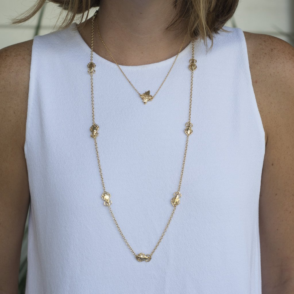 Goldbug Long Bug Station Necklace