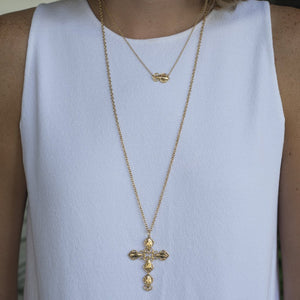 Goldbug Cross Pendant Necklace