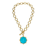 Elizabeth Locke Smooth Link Toggle Necklace