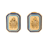 Goldbug Tangled Up in Blue Large Clip Earrings