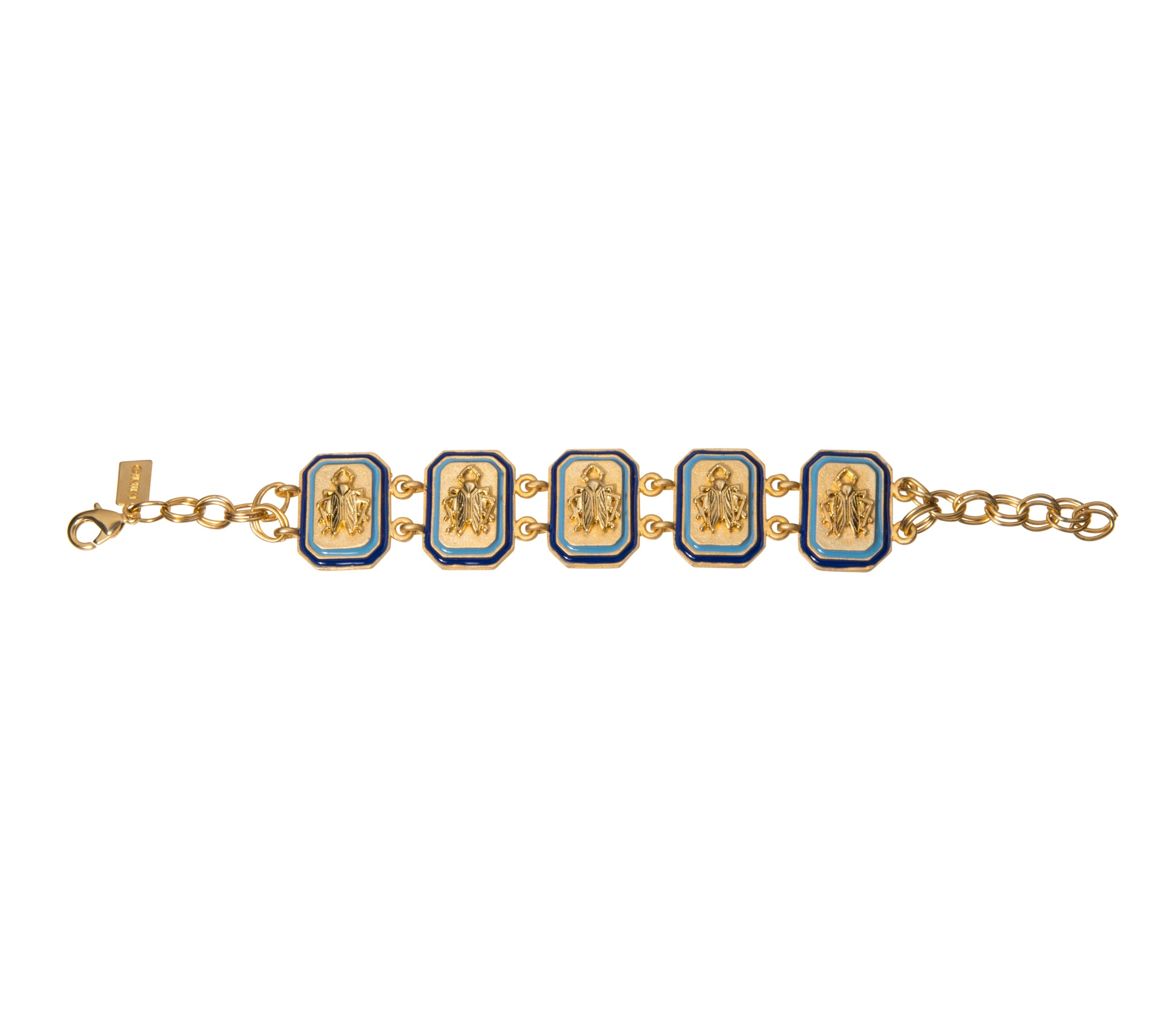 Goldbug Tangled Up In Blue Link Bracelet