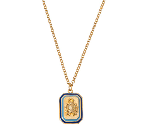 Goldbug Tangled Up in Blue Pendant Necklace
