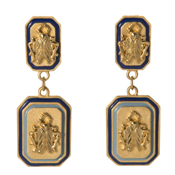 Goldbug Tangled Up in Blue Double Drop Earrings