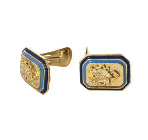 Goldbug Tangled Up In Blue Clip-On Earrings