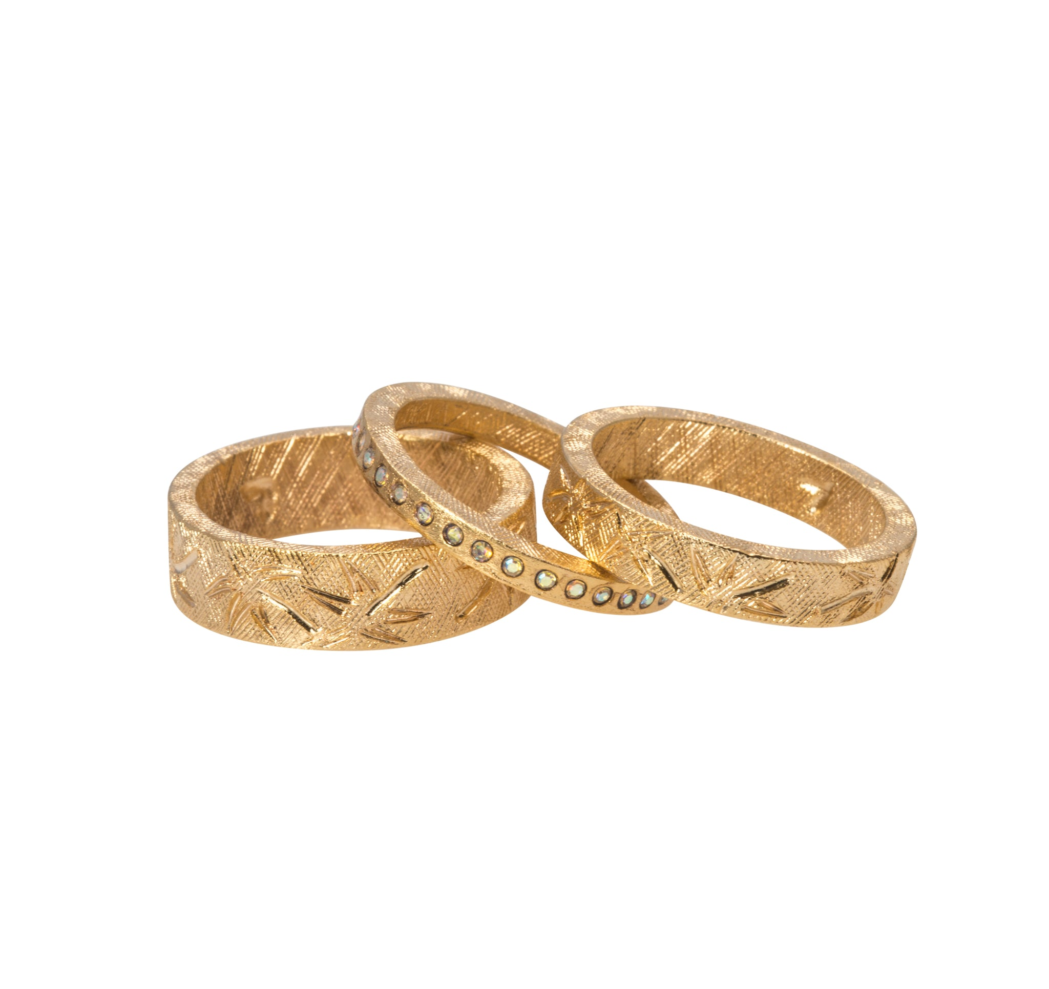 Goldbug Palmetto Textured Bands