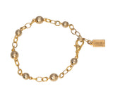 Goldbug Palm Textured Bead Bracelet