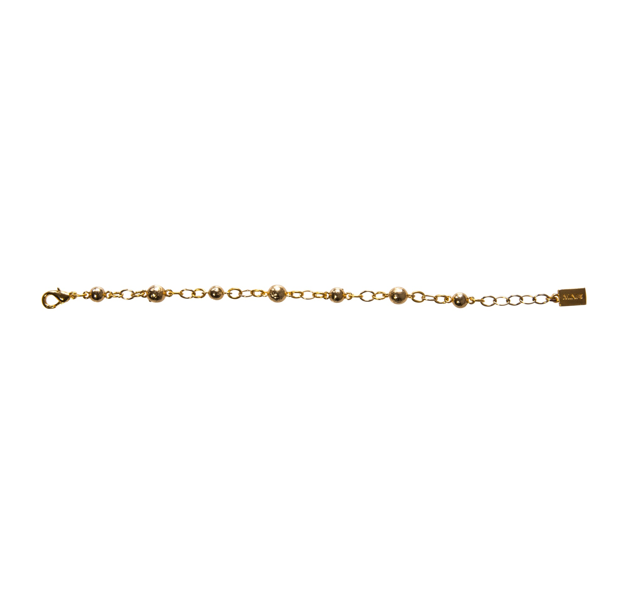 Goldbug Palmetto Textured Bead Bracelet
