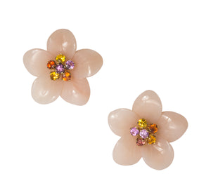 Mills House Large Flower Stud Earrings