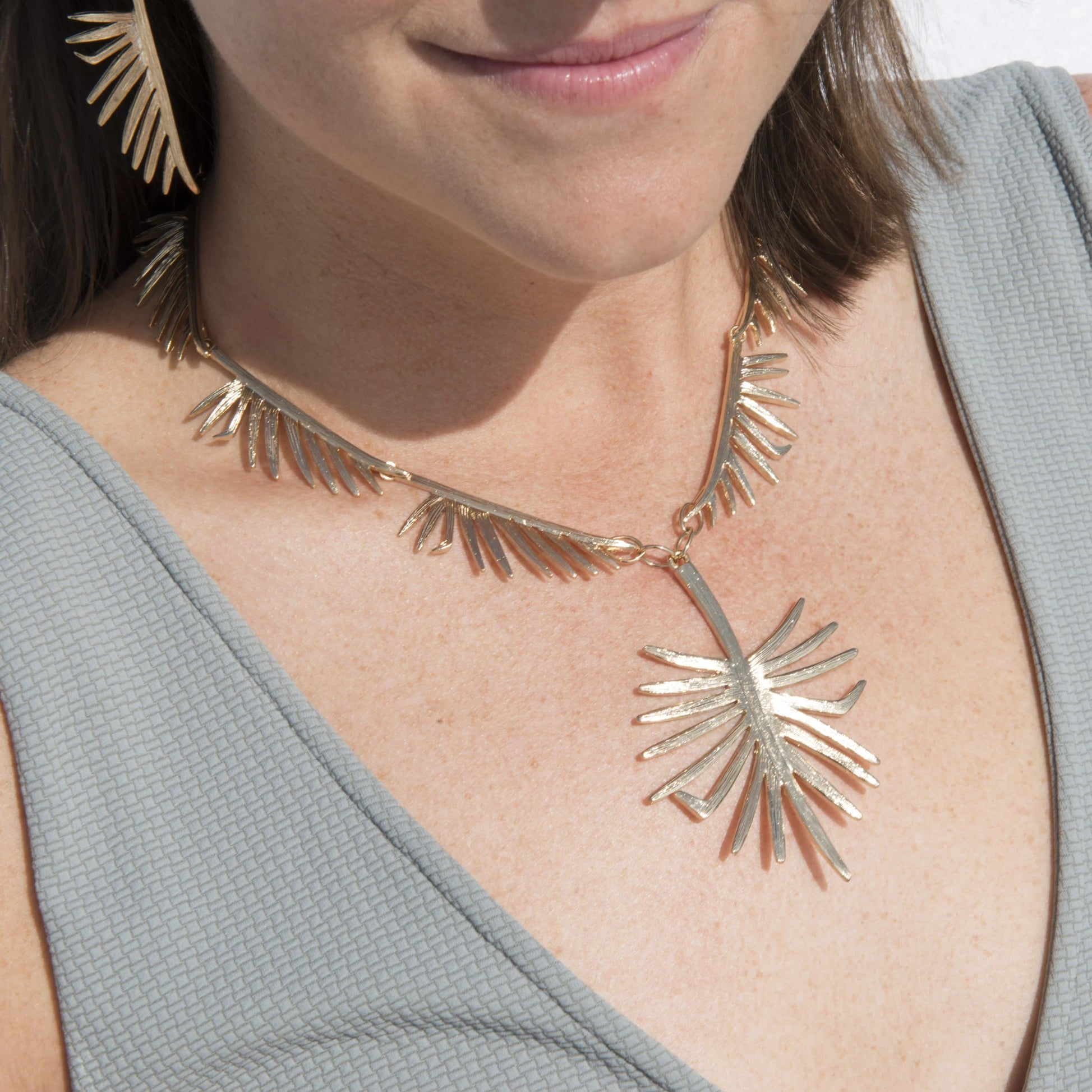 Goldbug Palmetto Link Necklace