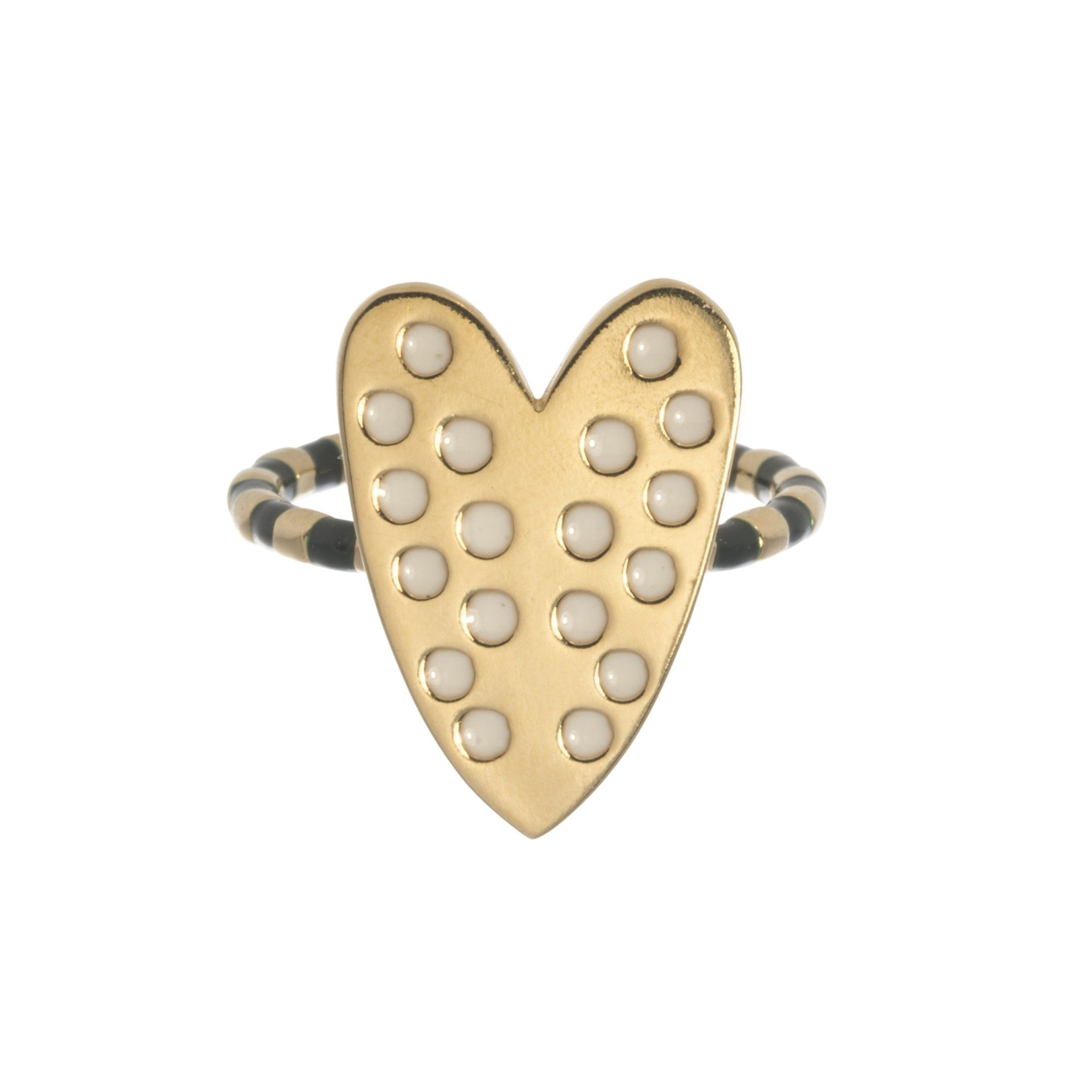 Goldbug Love On Top Heart Ring