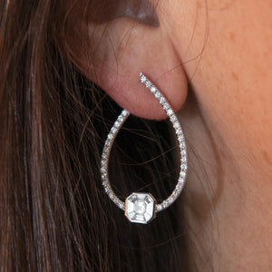 Diamond & 18K Gold Loop Earrings