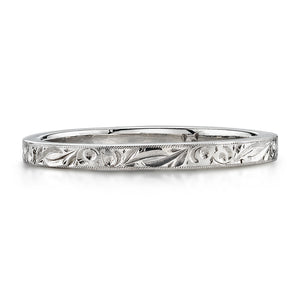 Single Stone Extra Large Hazel Platinum Band