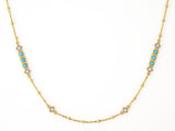 JudeFrances Lisse Bar Diamond Cut Chain Necklace