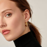 Temple St. Clair Small Cosmos Hoop Earrings