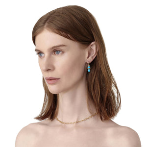 Temple St. Clair Turquoise Dynasty Drop Earrings