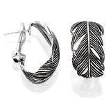 Grainger McKoy Sterling Silver Wide Feather Earrings