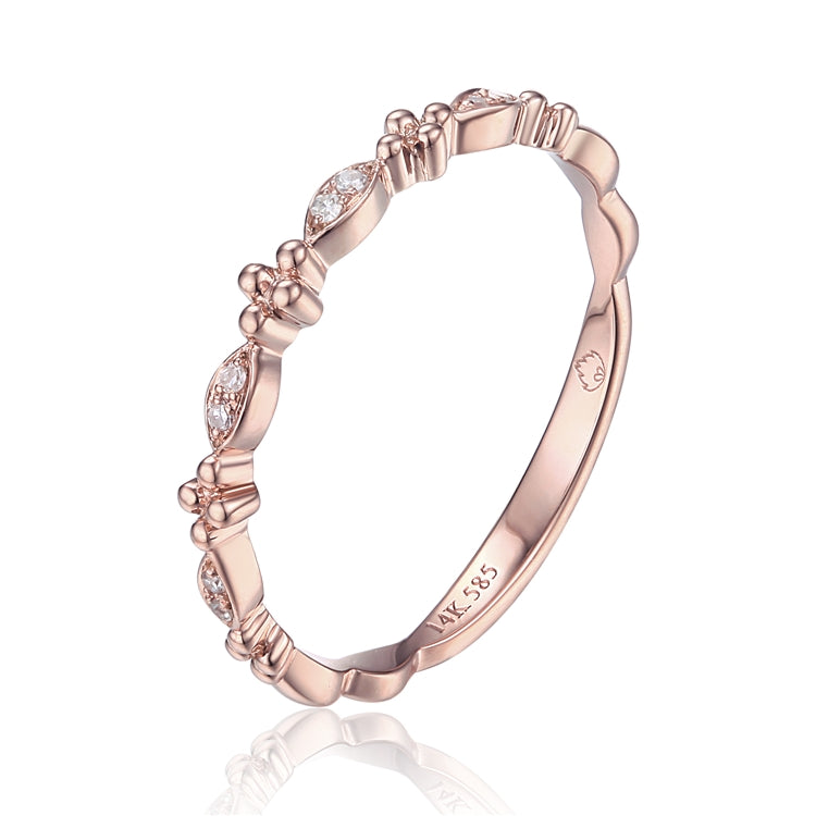 Diamond & 14K Rose Gold Band