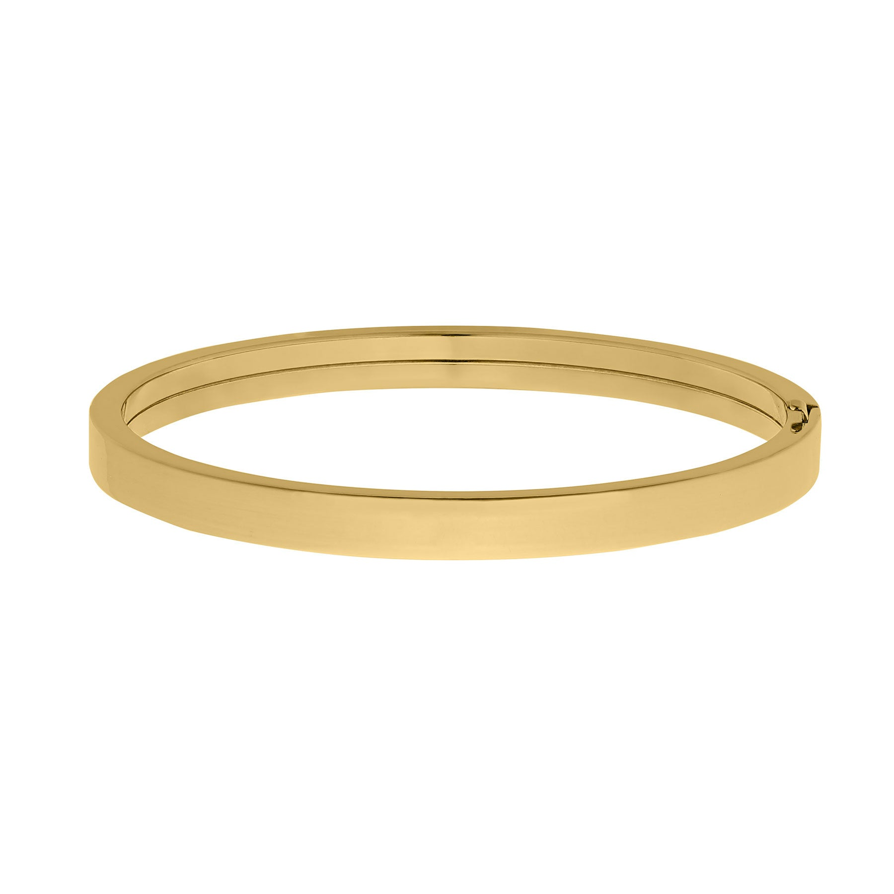 Adult 14K Gold-Filled Plain Flat 6mm Bangle