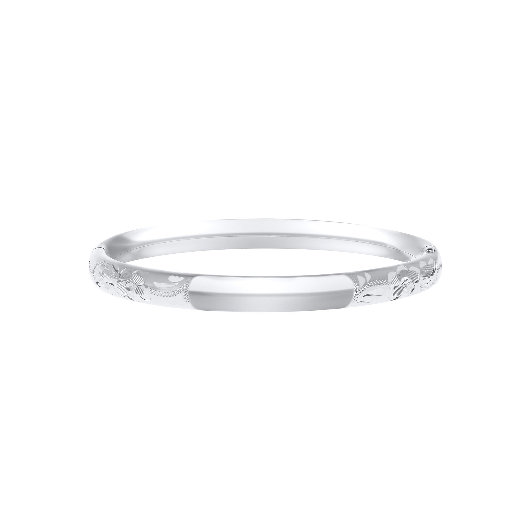 Baby Sterling Silver Engraved 5mm Bangle