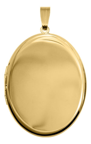 Gold-Filled Large Oval Locket Necklace
