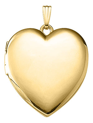 Gold-Filled Heart Locket Necklace